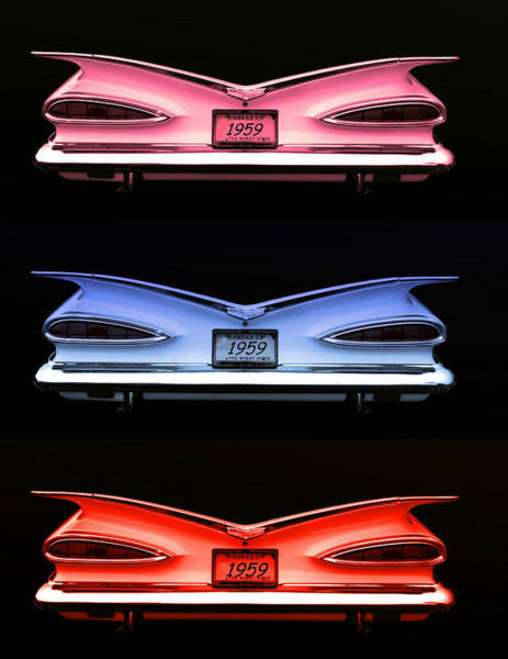Photograph - 1959 Chevrolet Eyebrow Tail Lights by Tim McCullough