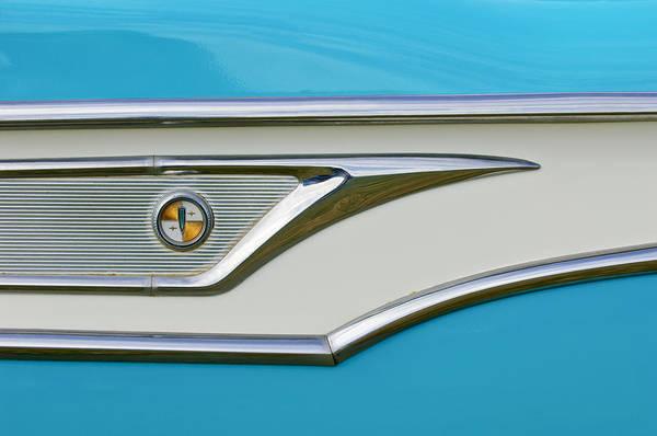 Photograph - 1959 Edsel Corvair Side Emblem by Jill Reger