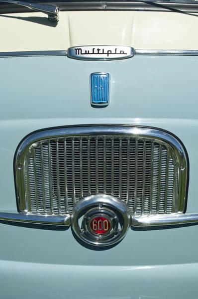 Photograph - 1959 Fiat Multipia Hood Emblem by Jill Reger