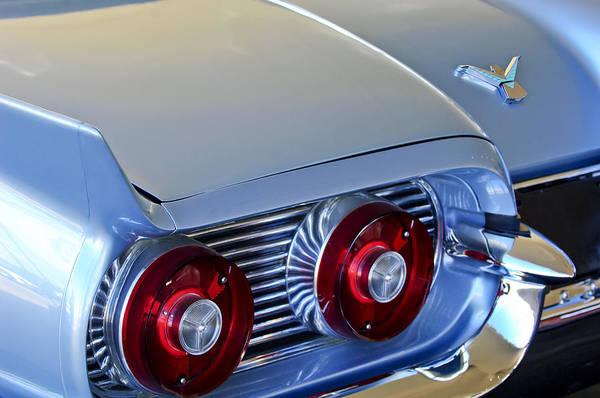 Photograph - 1959 Ford Thunderbird 2 Door Hardtop Taillights Emblem by Jill Reger