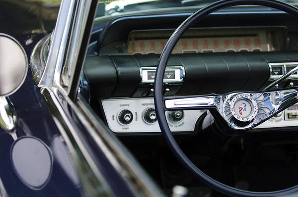 Photograph - 1960 Buick Electra Convertible Steering Wheel by Jill Reger