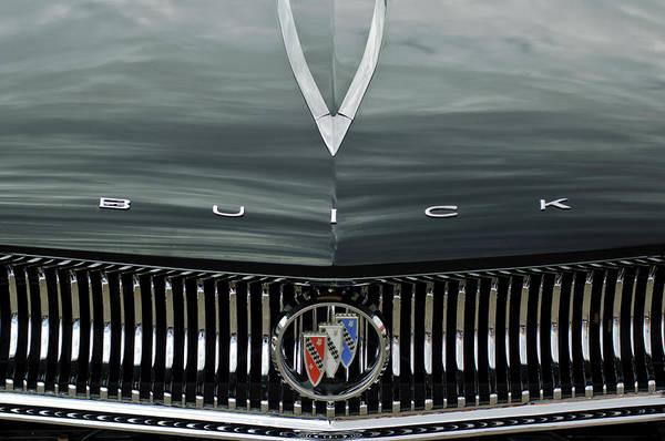 Photograph - 1960 Buick Invicta Convertible Hood Emblem by Jill Reger