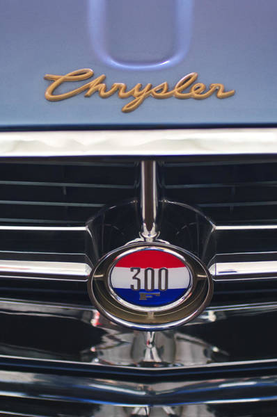 Photograph - 1960 Chrysler 300 F Grille Emblem by Jill Reger