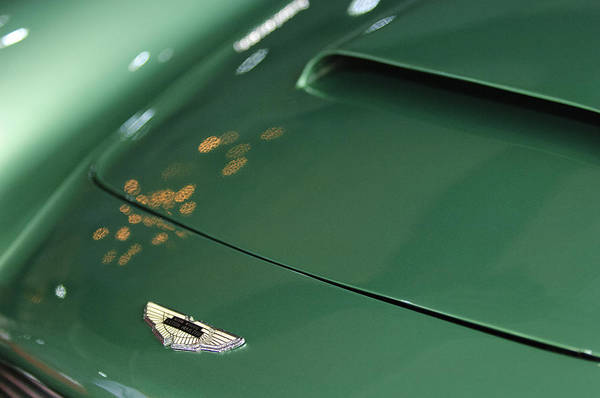 Photograph - 1961 Aston Martin Db4 Series Iv Hood Emblem by Jill Reger