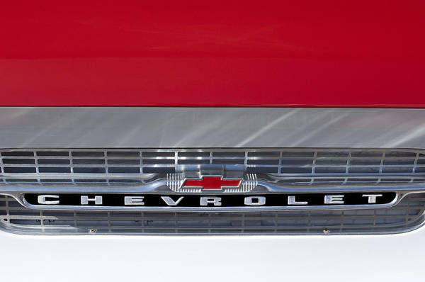 Corvair Photograph - 1961 Chevrolet Corvair Pickup Truck Grille Emblem by Jill Reger