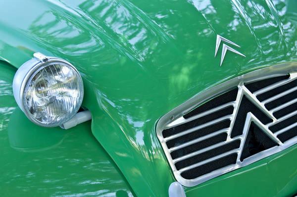 Photograph - 1961 Citroen 2cv Landaulet Hood Emblem by Jill Reger