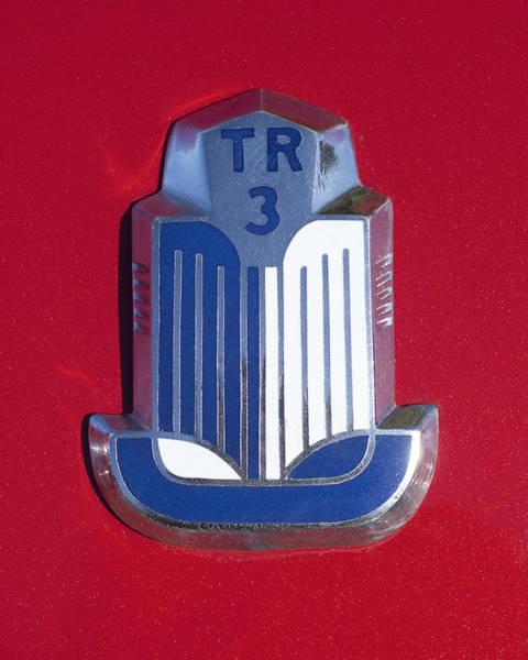 Photograph - 1961 Triumph Tr3a Roadster Emblem by Jill Reger