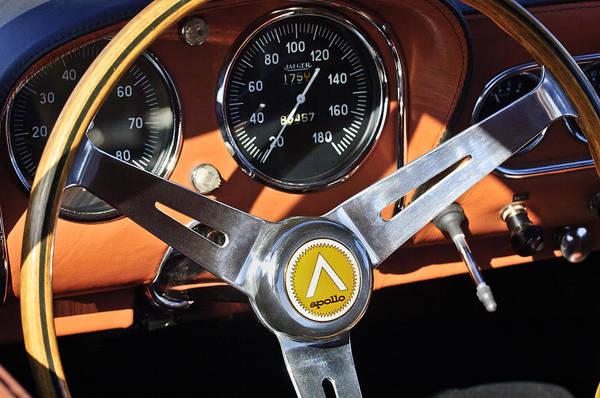 Photograph - 1963 Apollo Steering Wheel 2 by Jill Reger