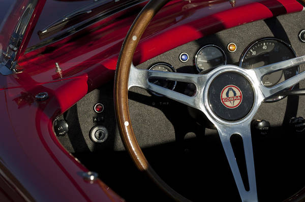Ac Cobra Wall Art - Photograph - 1965 Ac Cobra Steering Wheel 3 by Jill Reger