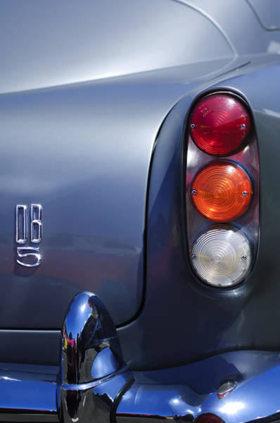 Photograph - 1965 Aston Martin Db5 Coupe Rhd Tail Light by Jill Reger