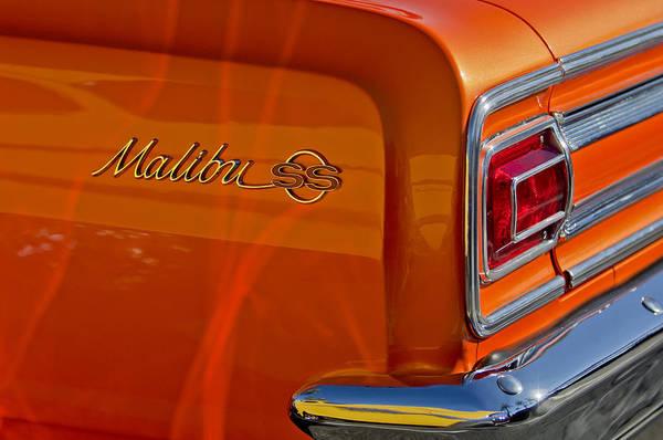 Photograph - 1965 Chevrolet Malibu Ss  Taillight Emblem 2 by Jill Reger