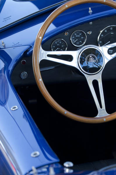 Photograph - 1965 Cobra Sc Steering Wheel 2 by Jill Reger