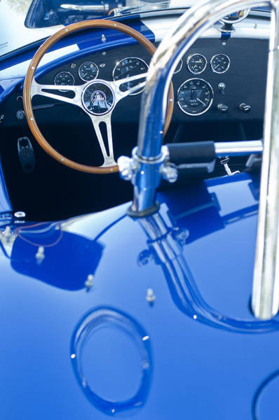 Photograph - 1965 Cobra Sc Steering Wheel by Jill Reger