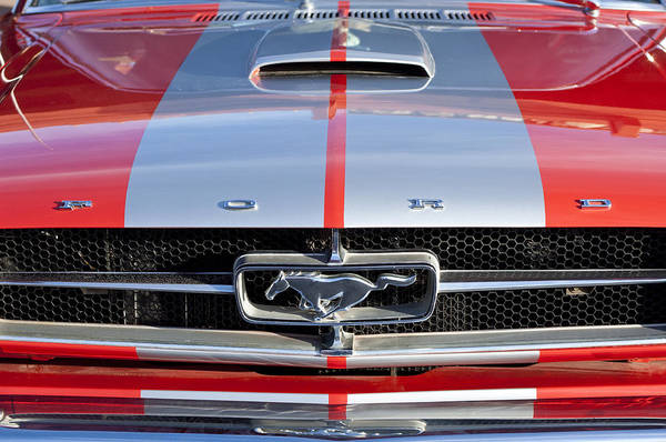 Photograph - 1965 Ford Mustang Front End by Jill Reger