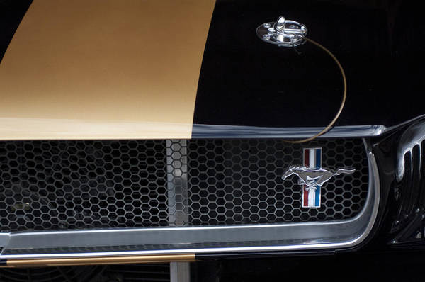 Photograph - 1965 Ford Mustang Grille Emblem 3 by Jill Reger