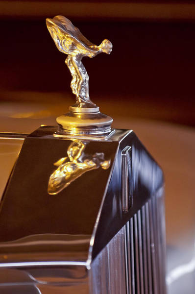 Photograph - 1965 Rolls-royce Silver Cloud IIi Continental Coupe Hood Ornament by Jill Reger
