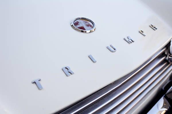 Photograph - 1965 Triumph Tr4 A Hood Emblem by Jill Reger
