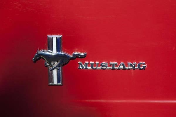 Photograph - 1966 Ford Mustang Emblem by Jill Reger