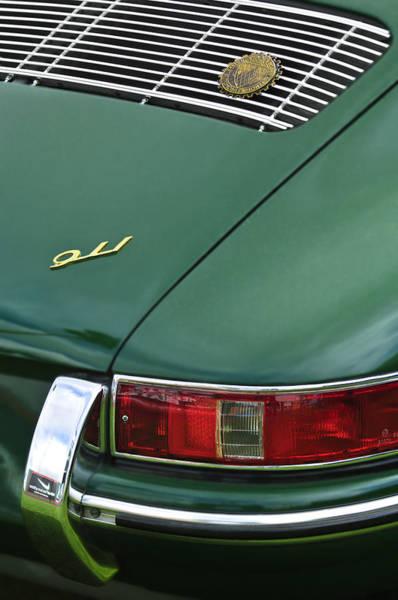 Photograph - 1966 Porsche 911 Swb Coupe Taillight Emblem by Jill Reger