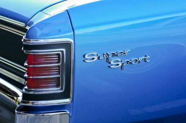 Photograph - 1967 Chevrolet Chevelle Super Sport Taillight Emblem by Jill Reger