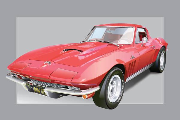 Wall Art - Digital Art - 1967 Chevrolet Corvette by Alain Jamar