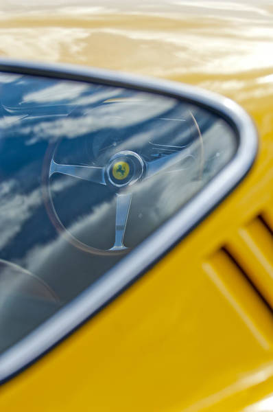 Photograph - 1967 Ferrari 275 Gtb4 Steering Wheel 3 by Jill Reger