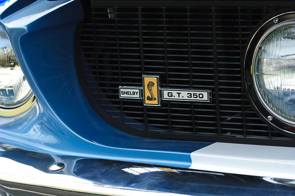 Photograph - 1967 Ford Gt 350 Shelby Clone Grille Emblem by Jill Reger