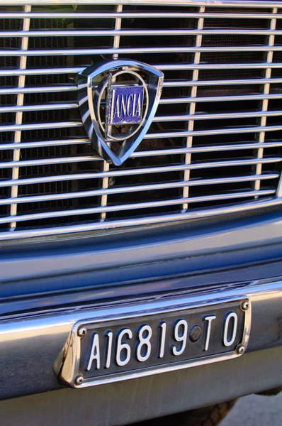 Photograph - 1967 Lancia Fulvia Berlina Grille Emblem by Jill Reger