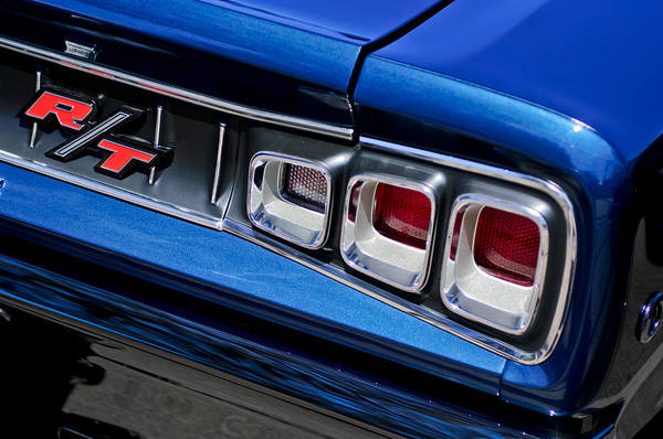 Photograph - 1968 Dodge Coronet Rt Hemi Convertible Taillight Emblem by Jill Reger