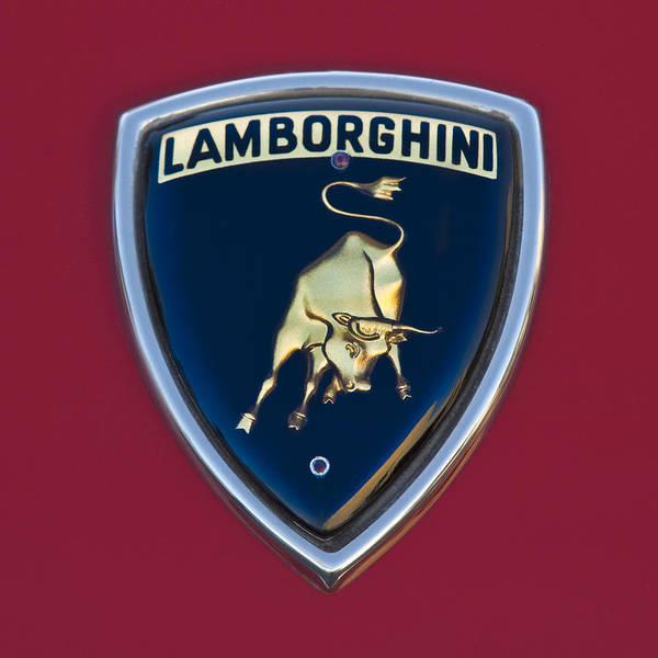 Photograph - 1969 Lamborghini Islero S Coupe Emblem by Jill Reger