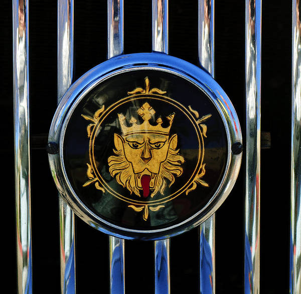 Photograph - 1969 Morgan Roadster Grille Emblem 2 by Jill Reger
