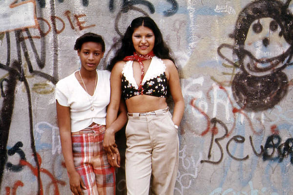 Puerto Rican Photograph - 1970s America. Two Young Girls Pose by Everett