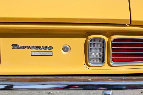 Photograph - 1971 Plymouth Barracuda Convertible 318 Ci Taillight Emblem by Jill Reger