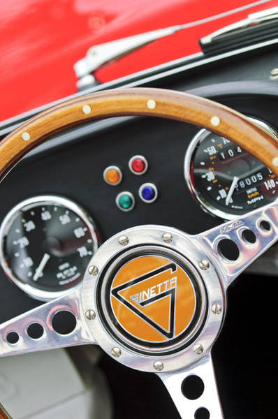 Photograph - 1972 Ginetta Steering Wheel Emblem by Jill Reger
