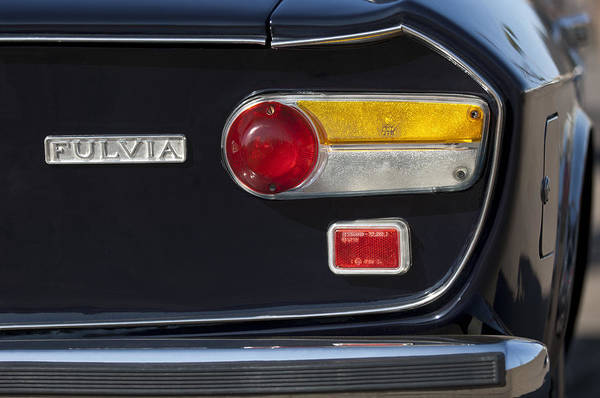 Photograph - 1972 Lancia Fulvia 1.3s Taillight Emblem by Jill Reger