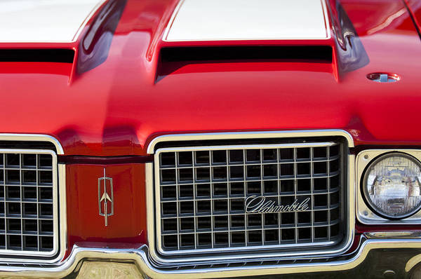 Photograph - 1972 Oldsmobile Grille by Jill Reger
