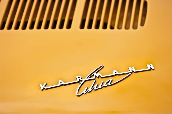 Photograph - 1973 Volkswagen Karmann Ghia Convertible Emblem by Jill Reger