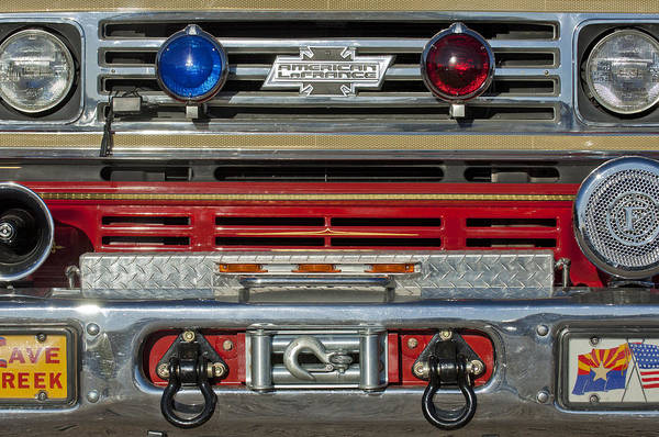 Photograph - 1978 Chevrolet American Lafrance Pumper Grille by Jill Reger