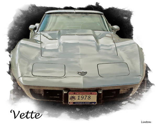 Digital Art - 1978 Corvette by Larry Linton