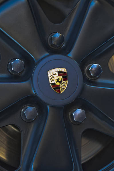 Photograph - 1980 Porsche 911sc Targa Wheel Emblem by Jill Reger