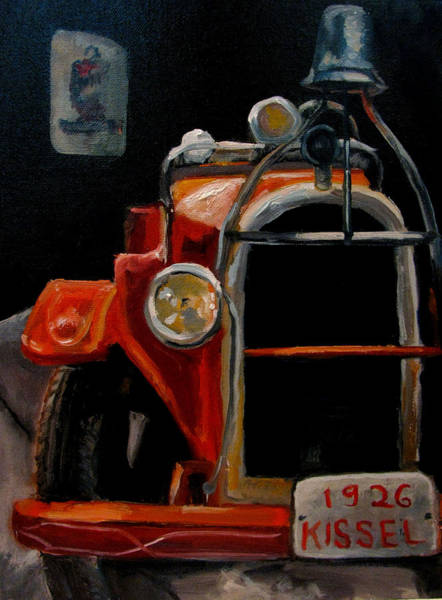 Vintage Fire Truck Painting - 1926 Kissel Fire Truck by Wendie Thompson