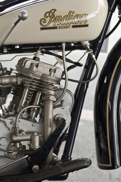 Photograph - 1931 Indian 101 Scout 45 Ci Motorcycle by Jill Reger