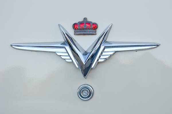 Photograph - 1953 Chrysler Imperial Custom Emblem by Jill Reger
