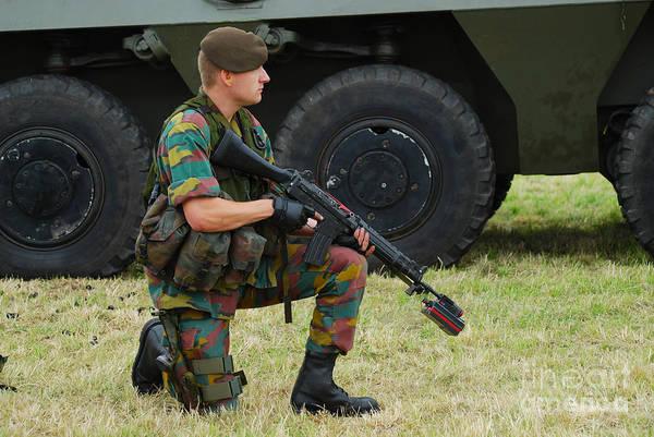 Fnc Photograph - A Soldier Of An Infantry Unit by Luc De Jaeger