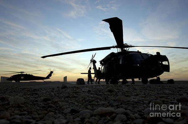 Utility Helicopter Photograph - A Uh-60 Black Hawk Helicopter by Terry Moore