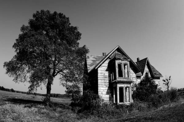 Fisheye Photograph - Abandoned House by Cale Best