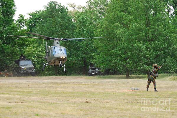Agustawestland Photograph - An Agusta A109 Helicopter by Luc De Jaeger