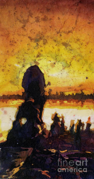 World Heritage Site Painting - Angkor Sunrise by Ryan Fox