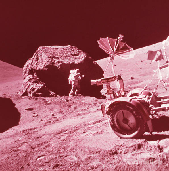 Photograph - Apollo 17 Moon Landing by Science Source