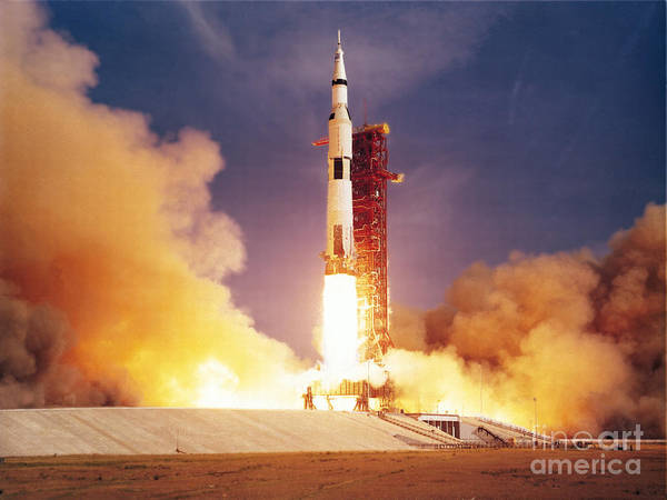 Photograph - Apollo 11 Launch by Nasa